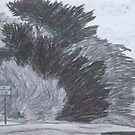 Trees on a Windy Day by Joan Wild