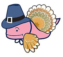 Vineyard Vines Whale Sticker || Thanksgiving Turkey  by laurrenpowell