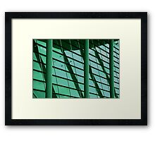 lines, levels and libraries Framed Print