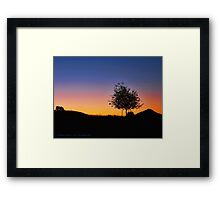 Smoky Sunrise Framed Print