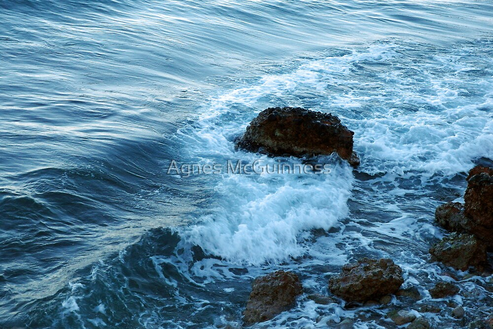 Mediterranean waves by Agnes McGuinness