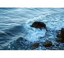 Mediterranean waves Photographic Print