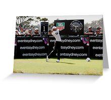Adam Scott Australian Open Golf Greeting Card