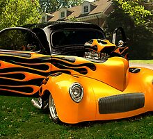 1940 Willys Custom Coupe with Flames by TeeMack