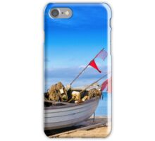 fishing boat on Usedom iPhone Case/Skin