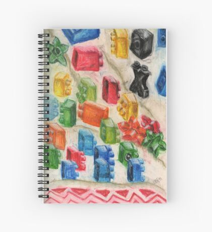 Drying Toy Blocks Spiral Notebook