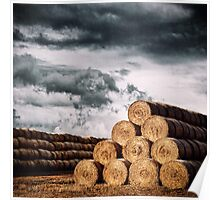 Army of Straw Bales Poster