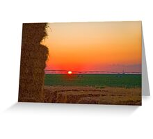 Magic Valley Sunset Greeting Card