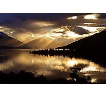 Lake Te Anau sunset. South Island, New Zealand. (5) Photographic Print