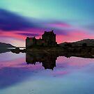 Twilight over Eilean Donan Castle by David Alexander Elder