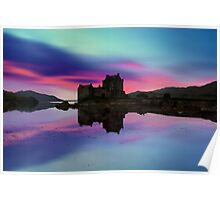 Twilight over Eilean Donan Castle Poster