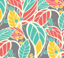 Seamless floral pattern with hand drawn leaves Sticker