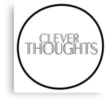 Clever Thoughts Canvas Print