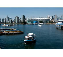 Vancouver Harbour, a View Photographic Print