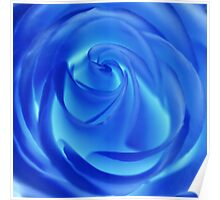 blue spring swirls Poster