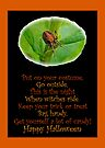 Halloween Card - Spider and Poem by MotherNature