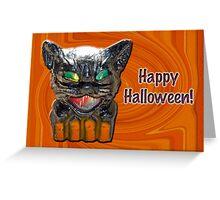 Halloween - Papier Mache Cat Lantern Greeting Card