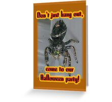 Halloween Party Invitation - Salticid Jumping Spider Greeting Card