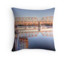 Captain Pround at the Bridge - Murray Bridge, South Australia Throw Pillow