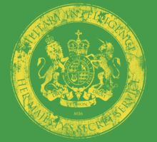 On her Majesty's secret service logo  - YELLOW T-Shirt