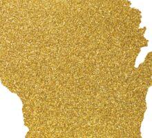 Gold Wisconsin state map Sticker