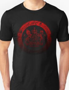 On her Majesty's secret service logo  - RED/BLACK Unisex T-Shirt