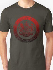 On her Majesty's secret service logo  - RED/BLACK T-Shirt