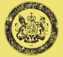 On her Majesty's secret service logo  - BLACK Kids Clothes