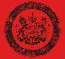 On her Majesty's secret service logo  - BLACK Kids Tee
