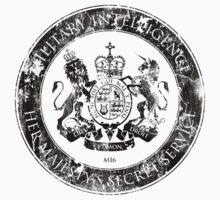 On her Majesty's secret service logo  - BLACK Baby Tee