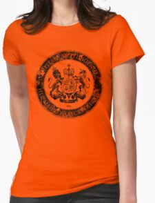On her Majesty's secret service logo  - BLACK Womens Fitted T-Shirt