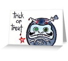Halloween Daruma 2 (Holiday Daruma Series) Greeting Card
