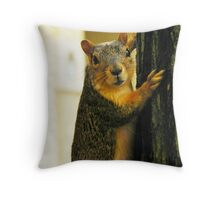 Squirrel Pose Throw Pillow