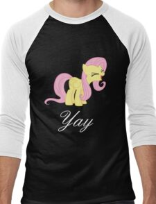 Fluttershy yay Men's Baseball ¾ T-Shirt