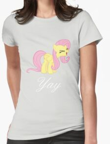 Fluttershy yay Womens Fitted T-Shirt