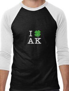 I [Club] AK (white letters) Men's Baseball ¾ T-Shirt