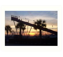 SC State Fair Sunset II Euroslide Art Print