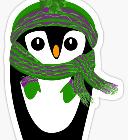 Penguin Hat, Scarf and Mittens Sticker