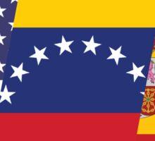 USA/VEN/ESP Tri Flag Sticker