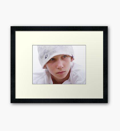 Unhappy James Framed Print