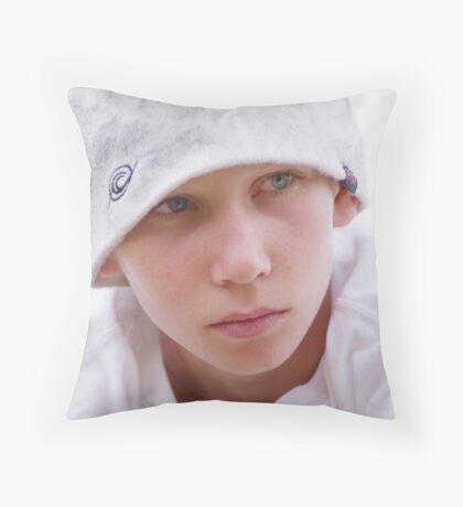 Unhappy James Throw Pillow
