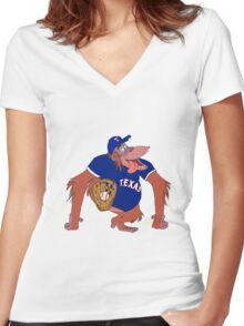 Texas 'Rangers Women's Fitted V-Neck T-Shirt
