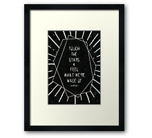 Touch the Stars Framed Print