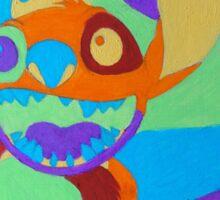 Psychedelic Stitch, Man Sticker