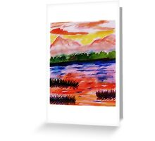 The other side of the Rio Grande, watercolor Greeting Card