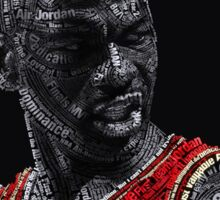 Michael Jordan Typography Sticker