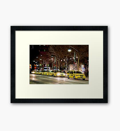 Taxi Rank Framed Print