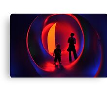 Stand-off at the Luminarium Canvas Print