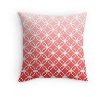 Pink Ombre Lattice Circles Throw Pillow