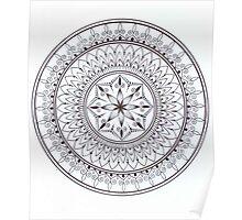 Black And White Hand Drawn Mandala Poster